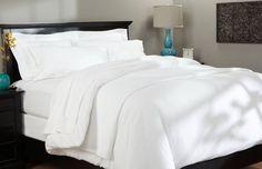 Scala Brand 100% Cotton 800TC Soft Designer 3PC Duvet Cover Set White Solid #Scala #Traditional