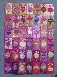 amazing beet quilt found on blog.gilliantravis.co.uk