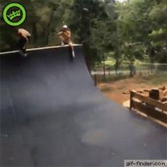 Dog Knocks Out Skateboarder | Gif Finder – Find and Share funny animated gifs