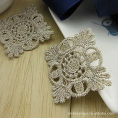 Soluble lace 4cm cotton flower golden diamond paste aqueous two  color-in Lace from Home & Garden on Aliexpress.com | Alibaba Group