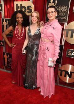Pin for Later: The Cast of Orange Is the New Black Has the Most Glamorous Night Out at the SAG Awards Marsha Stephanie Blake, Emma Myles, and Lori Petty