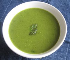 asperagus soup-- naturally detoxes and deboats