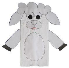 paper bag lamb craft more paper bag crafts paper bag puppets bag lamb ...