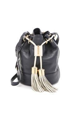 Tassel Tie Bucket Bag