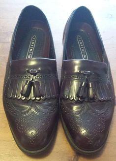 Vintage, Florsheim - Burgundy, Leather, Kiltie Tassel, Cap Toe, Loafer (Size 10) #Florsheim #LoafersSlipOns