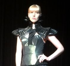 This neckpiece by Rachel Nhan was our favorite piece of work at the 3D Print Fashion Show in NYC on April 16, 2015