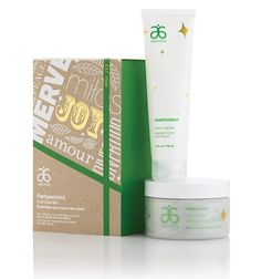 Pampermint® Foot Care Set #5504 - Arbonne. Go toe-to-toe with this exhilarating duo, featuring our classic scent of the season. Set includes an exfoliating Foot Scrub (8 oz.) and rich, moisturizing Foot Cream (4 fl. oz.), both formulated with a soothing balm mint extract. | Key Ingredients: mandarin orange peel oil extract, avocado oil, balm mint extract