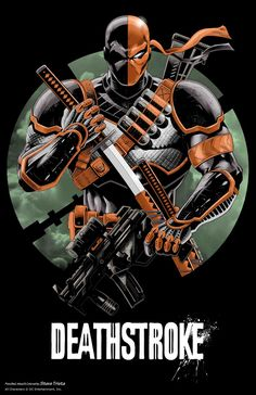 the DC counterpart of Deadpool. Deadpool character design is inspired by Deathst - Terminator Funny - Terminator Funny Meme - - the DC counterpart of Deadpool. Deadpool character design is inspired by Deathstroke Cosplay Deathstroke, Dc Deathstroke, Deathstroke The Terminator, Héros Dc Comics, Dc Comics Characters, Deadpool Character, Comic Character, Character Design, Deadshot