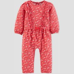 45d0a92d2 Baby Girls' 1pc Floral Jumpsuit - Just One You® made by carter's Pink  Newborn