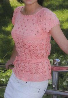 Бесплатные шаблоны Вязание - с коротким рукавом реглан пуловер