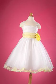 Flower Girl Dress? (But with a blue sash not yellow)