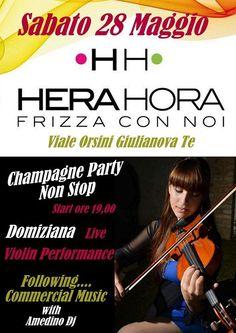 Hera Hora  CHAMPAGNE PARTY Live Violin & Dj Set http://ift.tt/1XQHkBj