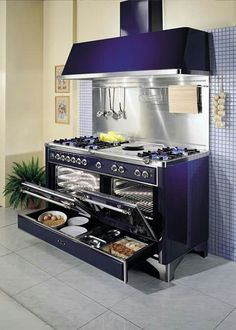Now this is a stove! Fogão Cook, Double Ovens, Double Oven Kitchen, Double Oven Range, Kitchen Oven, Kitchen Ranges, Kitchen Pantry, Kitchen Tools, Kitchen Decor
