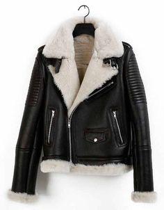 f94e65585402f lush Winter Leather Jackets, Winter Jackets, Leather Jacket With Fur, Leather  Jacket Outfits