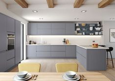 Ideas Small Kitchen Remodel Layout Shape White Cabinets For 2019 Modern Grey Kitchen, White Gloss Kitchen, Grey Kitchens, Modern Kitchen Design, Interior Design Kitchen, Home Kitchens, Grey Kitchen Diner, Kitchen Black, Cottage Kitchens