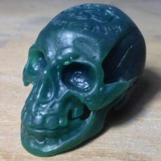 it is a skull head rings wax, carved by hand tools. awesome works of art, is it?