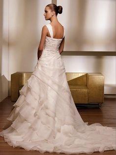 Brilliant Satin/Chiffon Scoop Empire Wedding Dresses