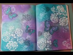 Butterfly Kisses an Art Journal Page