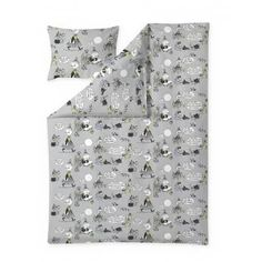 Textiles, Moomin, Duvet Covers, Pillow Cases, Mens Tops, Grey, Design, Gray