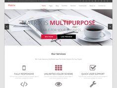 matrix — Free WordPress Themes Amazing Flexibility, Best Free Wordpress Themes, Personal Portfolio, Company Profile, Cool Designs, Website Ideas, Templates, How To Plan, Creative