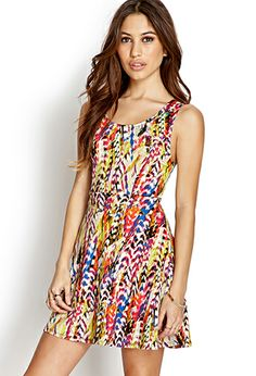 Abstract A-Line Dress   FOREVER21  Adding a little pop o fcolor in my closet!