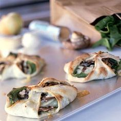blue cheese and spinach calzone