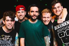 A Day To Remember after the show in LA on The Parks and Devastation Tour. prints available- http://adamelmakias.com/store/prints-2/