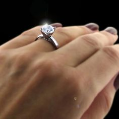 diamond ring high setting - Google Search