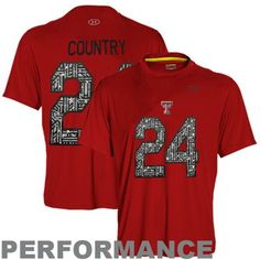 Under Armour Texas Tech Red Raiders #24 Wounded Warrior Project Catalyst Player Performance T-Shirt - Scarlet