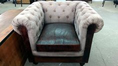 Vintage Shabby Chic Sessel 1-Sitzer Chesterfield Design Polster xxl Big Armchair