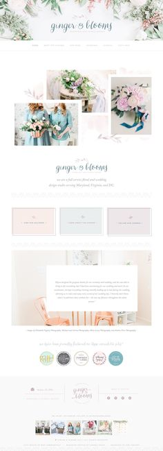Ginger & Blooms Wedding & Floral Design • A top 10 Squarespace feminine websites for inspiration.jpg