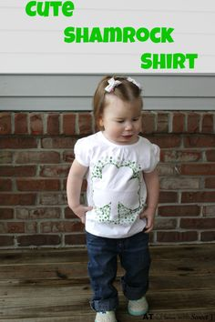Make this cute shamrock shirt so your cutie won't get pinched on St. Patrick's Day.