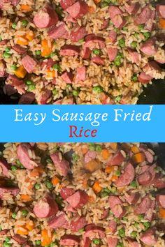 Easy Sausage Fried Rice #Easy #Sausage #Fried #Rice