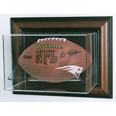 New England Patriots NFL Case-Up Football Display Case (Horizontal)