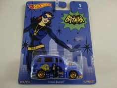 HOT WHEELS BATMAN CLASSIC TV SERIES CAT WOMAN SCHOOL BUSTED  #HotWheels #CAT
