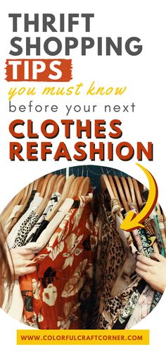 15+ thrift shopping tips for clothes upcycling. With these actionable tips you can become more successful while strolling through thrift store, looking for clothes to upcycle or refashion. #thriftstoreshopping #thrifting #clothesupcycle #refashioning Thrift Store Refashion, Clothes Refashion, Thrift Store Shopping, Shopping Tips, Thrift Shop Outfit, Refashioning, Color Crafts, Charity Shop, Next Clothes