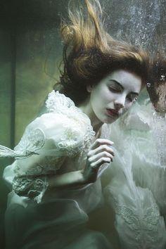 Dark Underwater Woman Portrait By Mira Nedyalkova