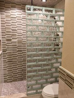 If you are considering glass block for your bathroom remodel give us a call. We are happy to discuss your glass block project with you. Brick Bathroom, Bathroom Windows, Glass Bathroom, Mosaic Bathroom, Bathroom Wallpaper, Glass Mosaic Tiles, Glass Blocks Wall, Glass Block Windows, Bathroom Design Small