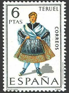 After the Catalan costume stamps of Spain, we move now from Catalonia to the west to Aragon . Aragon is an autonomous community in Spain,.