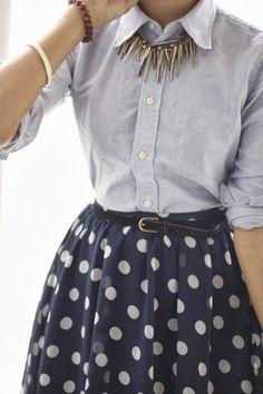 Polka Dot Skirt Unknown Model/Photographer