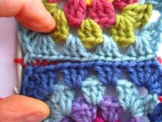 colorful and descriptive tutorial on joining granny squares. Gotta love Attic24!