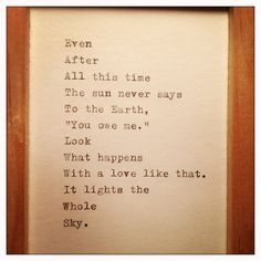 Hafiz Quote Typed on Typewriter and Framed by farmnflea on Etsy, $15.00