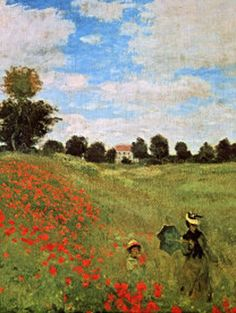 ♔ Poppies blooming ~ Claude Monet