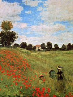 ♔ Poppies blooming ~ Claude Monet