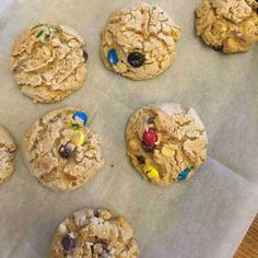Peanut Butter and Candy Cookies. These cookies are wonderful and full of peanut butter flavor. Add in your favorite M&Ms, chocolate chips, butterscotch chips and oats. Heavenly, absolutely heavenly!