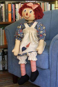 "Dolls- Katkins Designs Shop- Katkins Designs- Katkins Designs Shop- ""My Big Raggy"" Kit- - Cloth Doll, kits, patterns, accessories, pens and ..."