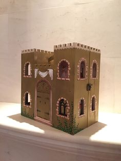 Castle (Gold), Princess Castle, Fairytale dollhouse, little girl gifts, custom castle, wooden by CreativeCamelot on Etsy https://www.etsy.com/listing/254612226/castle-gold-princess-castle-fairytale