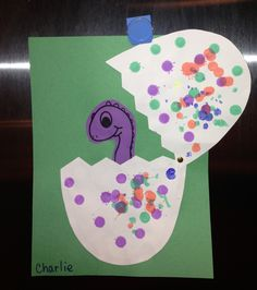 Dinosaur Hatching from Egg Preschool Craft Dinosaurs