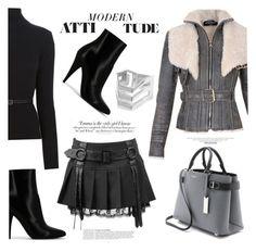 """Modern Attitude"" by ildiko-olsa ❤ liked on Polyvore featuring Yves Saint Laurent, Balmain, Dsquared2, Michael Kors, Vanity Fair, Anja, Maria Black and modern"