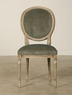 A Set Two Arms And Six Sides Of Oval Back Louis XVI Style Dining